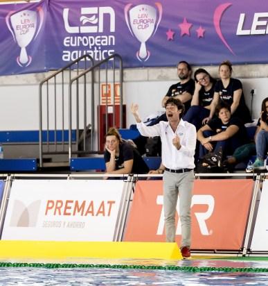Oca Coach ESP LEN Europa Cup Women 2018 finals NED-ESP Netherlands (white caps) V. Spain (blue caps) 3rd - 4th place Water Polo, Pallanuoto Pontevedra, Spain Complejo Rias do sur Day03 Photo © Giorgio Scala/Deepbluemedia/Insidefoto