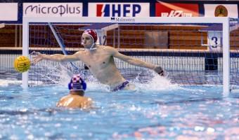 1 BIJAC CRO FRA - CRO France (white cap) Vs. Croatia (blue cap) LEN Europa Cup Men 2018 finals Water Polo, Pallanuoto Rijeka, CRO Croatia Day01 Photo © Giorgio Scala/Deepbluemedia/Insidefoto