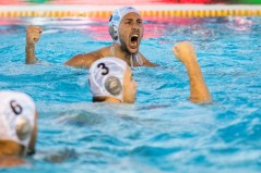 Pro Recco (white cap) vs Jug Dubrovnik (blue cap) 8 ECHENIQUE Gonzalo Oscar LEN Champions League Final Eight 2018 08/06/2018 SemiFinal Piscina Sciorba Genova Italy Photo © G.Scala/Deepbluemedia/inside