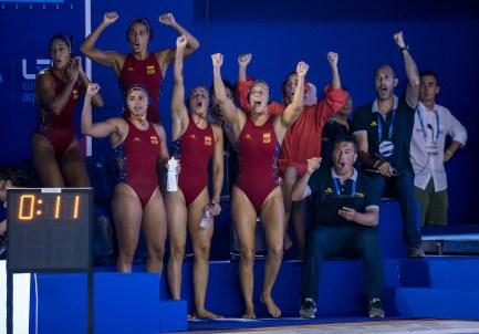 Team Spain HUN - ESP Hungary (white caps) vs. Spain (blue caps) Barcelona 14/07/2018 Piscines Bernat Picornell Women qualification 33rd LEN European Water Polo Championships - Barcelona 2018 Photo Giorgio Scala/Deepbluemedia/Insidefoto