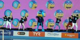 Show HUN - ESP Hungary (white caps) vs. Spain (blue caps) Barcelona 14/07/2018 Piscines Bernat Picornell Women qualification 33rd LEN European Water Polo Championships - Barcelona 2018 Photo Giorgio Scala/Deepbluemedia/Insidefoto