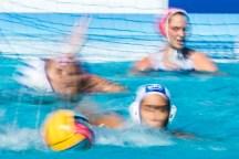 GRE - CRO Greece (white caps) vs. Croatia (blue caps) Barcelona 17/07/18 Piscines Bernat Picornell Women qualification 33rd LEN European Water Polo Championships - Barcelona 2018 Photo Giorgio Scala/Deepbluemedia/Insidefoto
