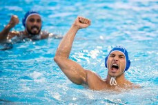 4 FIGLIOLI Pietro ITA HUN - ITA Hungary (white caps) vs Italy (blue caps) Barcelona 18/07/18 Piscines Bernat Picornell Men qualification 33rd LEN European Water Polo Championships - Barcelona 2018 Photo Andrea Staccioli/Deepbluemedia/Insidefoto