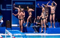 GER - Team Germany NED - GER Netherlands (white caps) vs. Germany (blue caps) Barcelona 26/07/2018 Piscines Bernat Picornell Men Final 9th - 10th Place 33rd LEN European Water Polo Championships - Barcelona 2018 Photo Pasquale Mesiano/Deepbluemedia/Insidefoto
