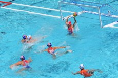 WOLVES Iris NED Goal NED - CRO Netherlands (white caps) vs. Croatia (blue caps) Barcelona (ESP) 14/07/2018 Piscines Bernat Picornell Men/Women qualification 33rd LEN European Water Polo Championships - Barcelona 2018 Photo Andrea Staccioli/Deepbluemedia/Insidefoto