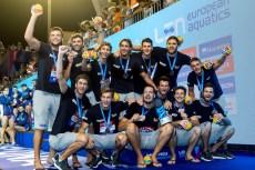 Team CROATIA Bronze Barcelona 28/07/2018 Piscines Bernat Picornell Men Medal Ceremony 33rd LEN European Water Polo Championships - Barcelona 2018 Photo Andrea Staccioli/Deepbluemedia/Insidefoto