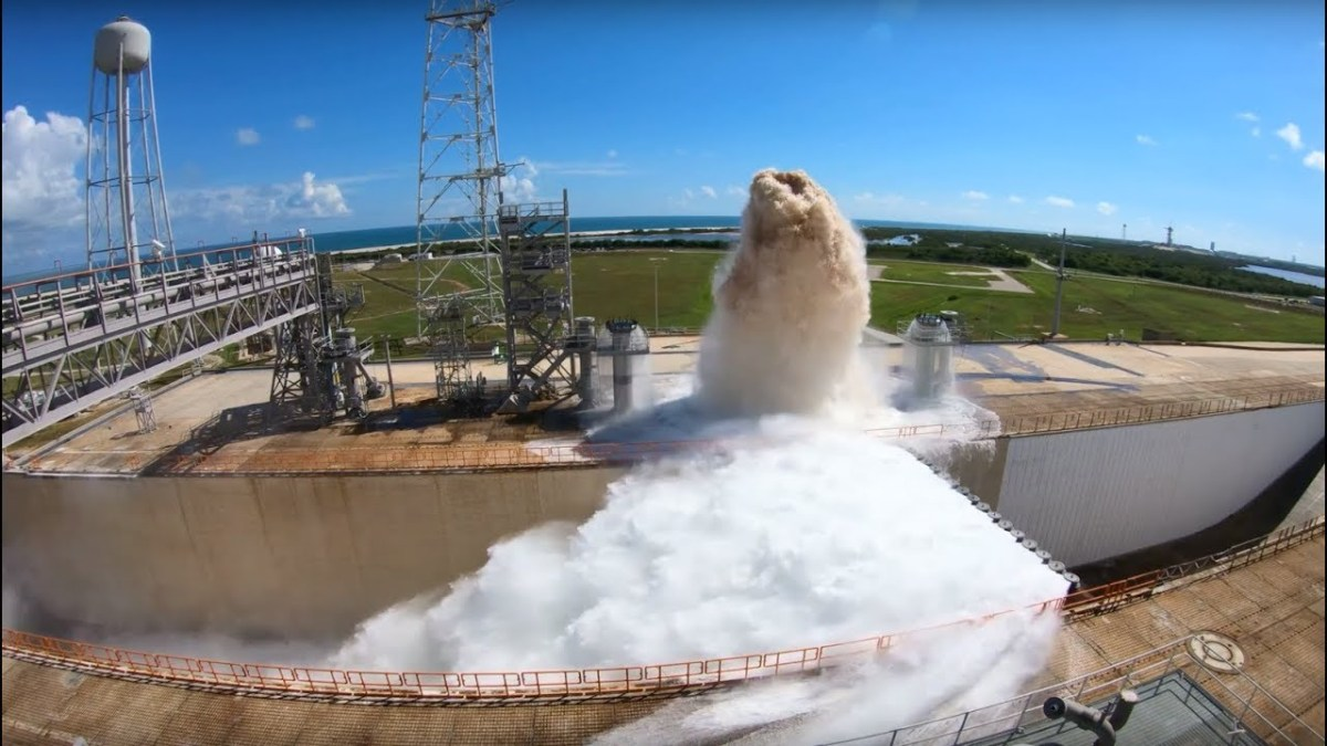 Watch NASA dump 450,000 gallons of water in less than a minute