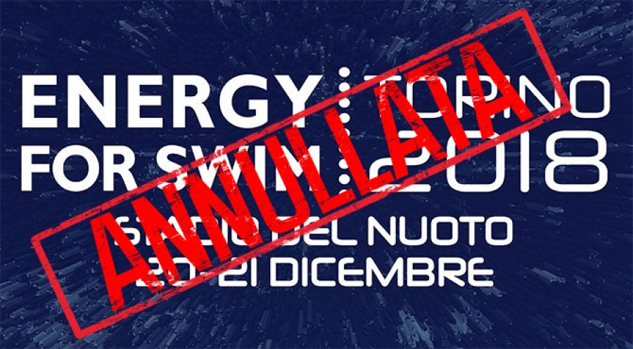 Torino 2018 Energy for Swim Canceled