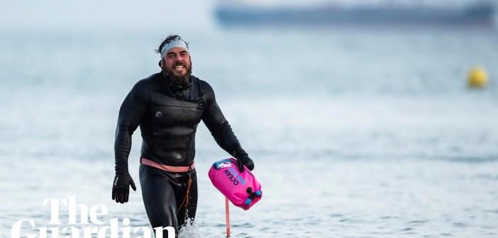 Ross Edgley swims 2,000 miles around Great Britain