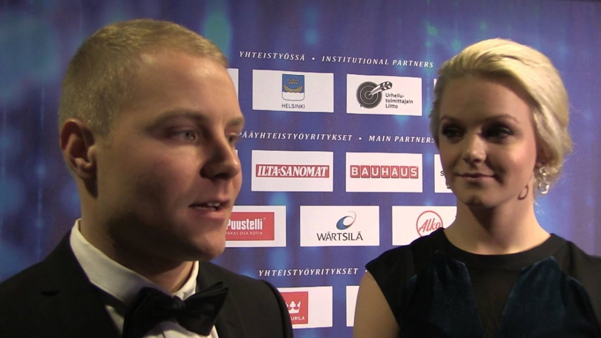 Who is Valtteri Bottas' wife Emilia? Mercedes F1 driver's partner and Olympic swimmer
