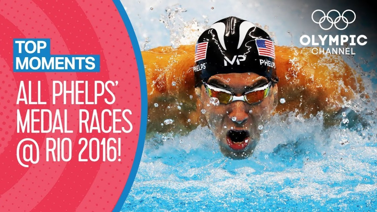 All Michael Phelps' Olympic Medal Races at Rio 2016 | Top Moments