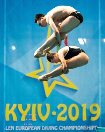 Team Germany Mixed - Team Event - Final Kyiv, Ukraine UKR 05/08/2019 Diving Len European Diving Championships 2019 Sport Arena Liko Kyiv, Ukraine Photo © Giorgio Scala / Deepbluemedia / Insidefoto