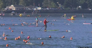 Swimmers dive into Columbia for annual cross-channel swim