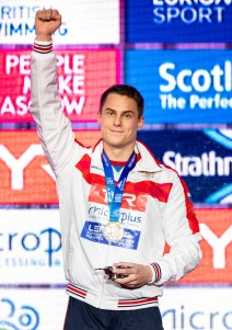 MOROZOV Vladimir Russia RUS Gold Medal 50 breaststroke men Final Glasgow 04/12/2019 XX LEN European Short Course Swimming Championships 2019 Tollcross International Swimming Centre Photo Giorgio Scala / Deepbluemedia / Insidefoto