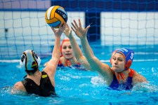 5 WOLVES Iris NED - Netherlands Budapest 13/01/2020 Duna Arena GER - Germany (white caps) Vs. NED - Netherlands (blue caps) XXXIV LEN European Water Polo Championships 2020 Photo ©Pasquale Mesiano / Deepbluemedia / Insidefoto