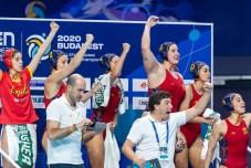 Spain Budapest 23/01/2020 Duna Arena Hungary (white caps) Vs. Spain (blue caps) Women Semifinal XXXIV LEN European Water Polo Championships 2020 Photo ©Giorgio Scala / Deepbluemedia / Insidefoto
