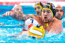 12 GER EIDNER Dennis Germany Budapest 24/01/2020 Duna Arena Georgia (white caps) Vs. Germany (blue caps) Men XXXIV LEN European Water Polo Championships 2020 Photo ©Giorgio Scala / Deepbluemedia / Insidefoto