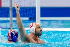 10 ESP PERRONE ROCHA Felipe Spain Budapest 24/01/2020 Duna Arena Spain (white caps) Vs. Croatia (blue caps) Men Semifinal XXXIV LEN European Water Polo Championships 2020 Photo ©Giorgio Scala / Deepbluemedia / Insidefoto