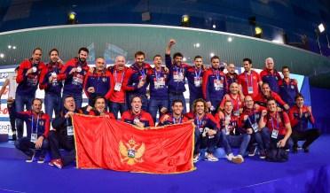 Bronze Medal Team MNE Montenegro Gold medal Match HUN - Hungary (white caps) Vs. ESP - Spain (blue caps) Men Budapest 26/01/2020 Duna Arena XXXIV LEN European Water Polo Championships 2020 Photo ©Pasquale Mesiano / Deepbluemedia / Insidefoto