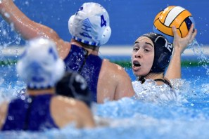 12 FRA DAULE Audrey France Budapest 13/01/2020 Duna Arena ISRAEL (white caps) Vs. FRANCE (blue caps) Women XXXIV LEN European Water Polo Championships 2020 Photo © Andrea Staccioli / Deepbluemedia / Insidefoto