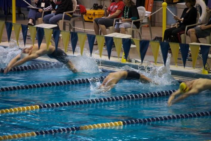 college swimming photo