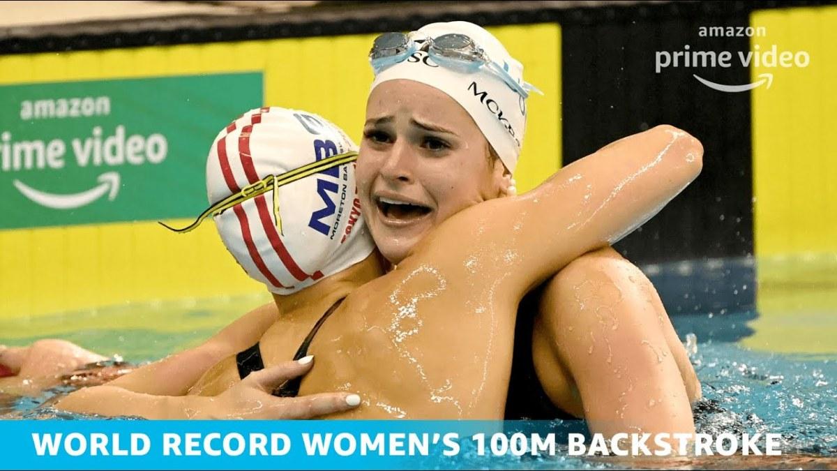 Kaylee McKeown World Record Breaking Moment   2021 ...