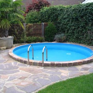 Milano steel round swimming pools kit