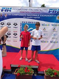 ROVERETO 2013 I PIU GIOVANI DELLA MANIFESTAZIONE Giorgia Meloni (Sardegna) e  Mario Bossone (Sicilia)