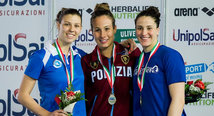 podio 400 misti donne - Ass.Prim.2016 - Trombetti, Franceschi, Toni - ph.A.Masini