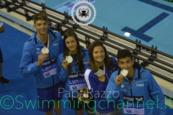Alessandro Miressi, Sara Ongaro, Ilaria Cusinato, Giovanni Izzo - ph. PapàRazzo - www.swimmingchannel.it