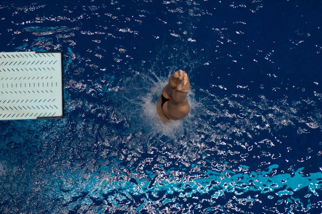 KNOXVILLE, TN - August 17, 2014: Lacey Houser during the 2014 USA Senior Diving National Event Finals at Allan Jones Aquatic Center in Knoxville, TN. Photo By Matthew S. DeMaria