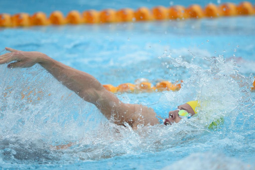 Mitch Larkin Pan Pacs 2014 Swimming Australia