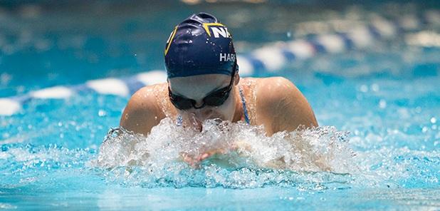 NAU swimmer