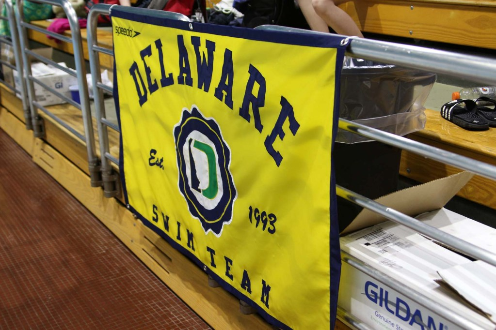 delaware swim team banner cerave invitational