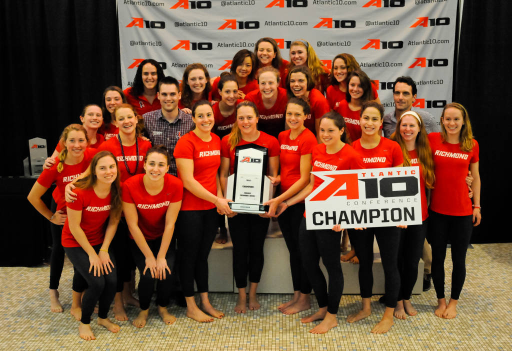 Atlantic 10 swimming