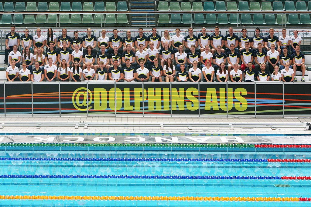 Swimming Australia world championship teamduring the Hancock Prospecting Australian Swimming Championships at the Sydney Aquatic Centre. Sydney, Australia. Friday, 10th April 2015 (Photo: Steve Christo)