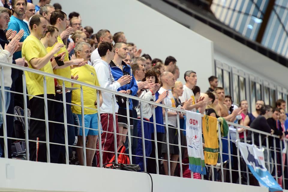 Russia Masters Swimming spectators