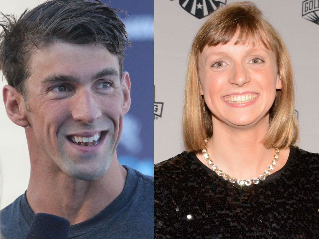 Michael Phelps and Katie Ledecky Golden Goggles