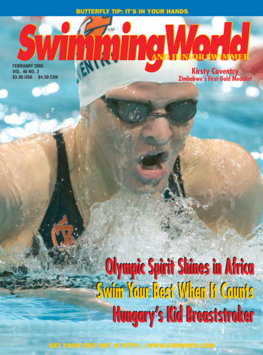 swimming-world-magazine-february-2005-cover