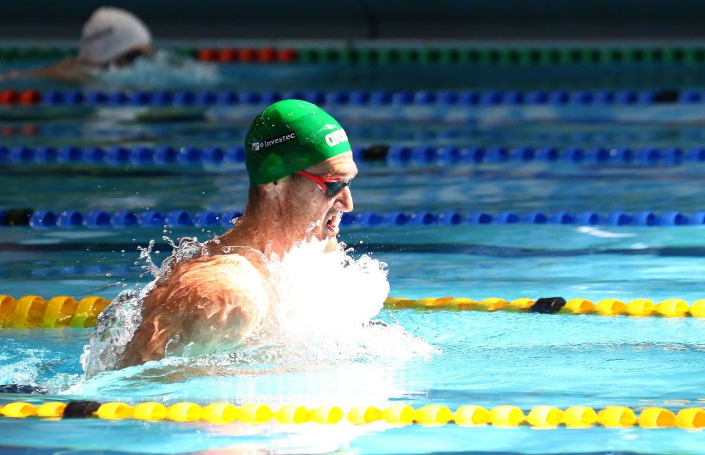 DURBAN, SOUTH AFRICA - APRIL 10: Cameron van den Burgh qulaifying for the 100m breatstroke during the heats session on day 1 of the SA National Aquatic Championships and Olympic Trials on April 10 , 2016 at the Kings Park Aquatic Center pool in Durban, South Africa. Photo Credit / Anesh Debiky/Swim SA