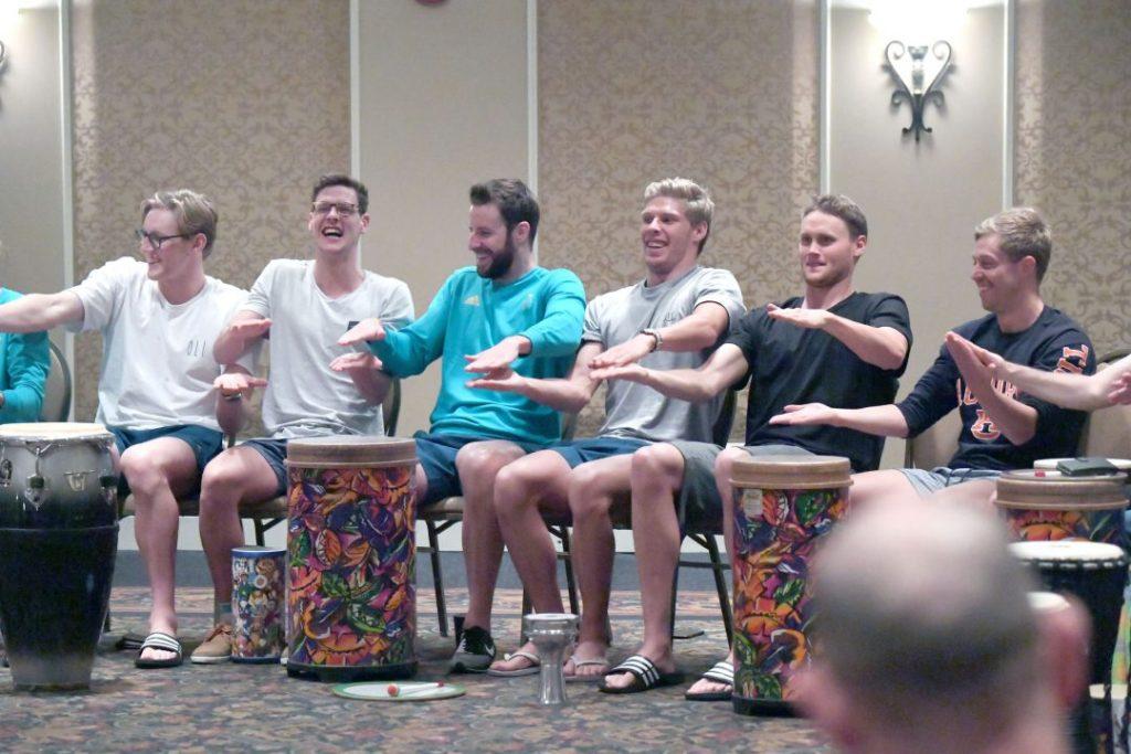 australian-team-bonding-drums