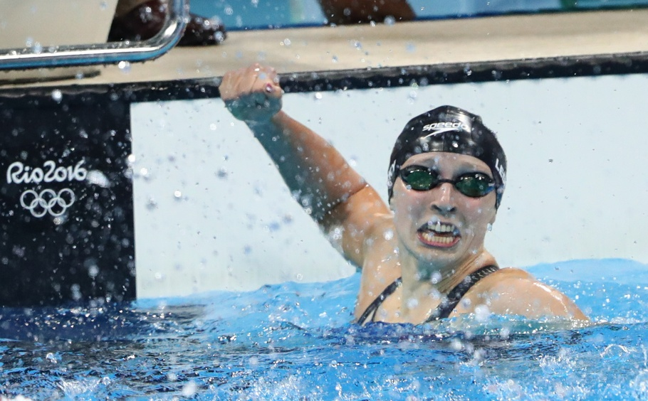 katie-ledecky-world-record-celebrate-reaction-400fr-rio-olympics