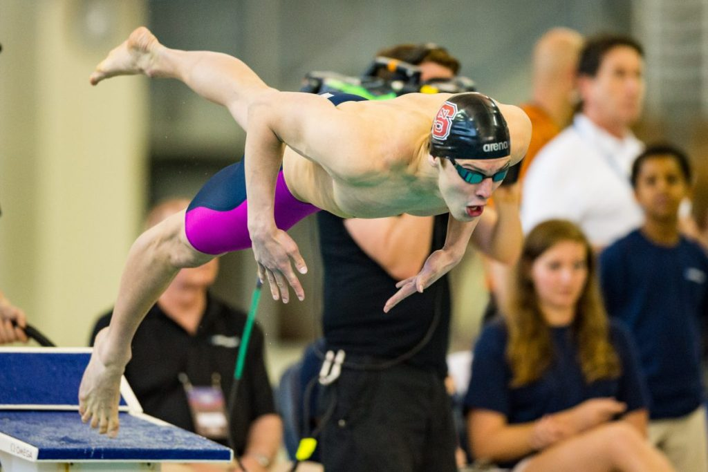 NC State swimmer Ryan Held during the NCAA Men's Swimming and Diving Championship on Friday Mar. 25, 2016 at Georgia Tech Campus Recreation Center, in Atlanta, GA. Jacob Kupferman/CSM