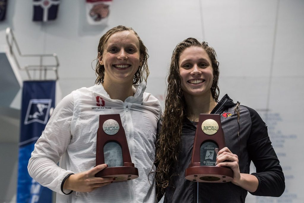 katie ledecky, mallory comerford, 2017 ncaa championships