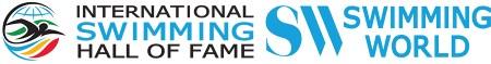 ISHOF and Swimming World Combined logo