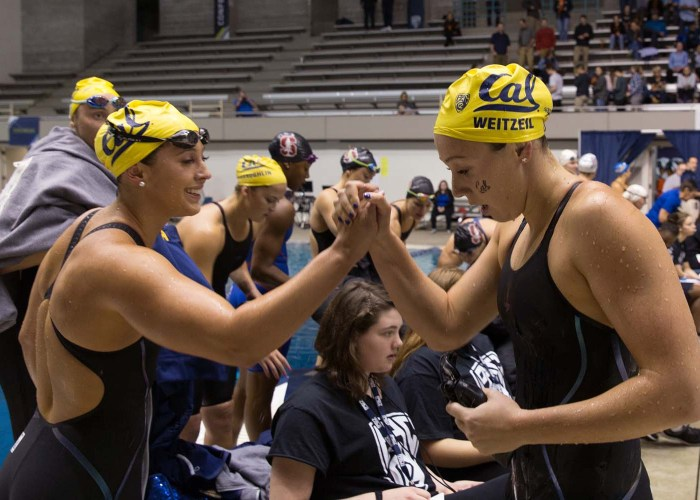 kathleen-baker-abbey-weitzeil-cal-shake-hands-pac-12-championships