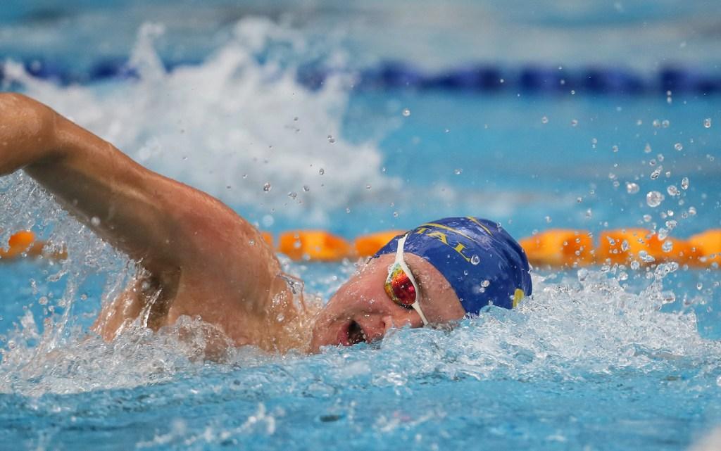 Lewis Clareburt. AON Swimming New Zealand National Open Swimming Championships, National Aquatic Centre, Auckland, New Zealand, Monday 2nd July 2018. Photo: Simon Watts/www.bwmedia.co.nz