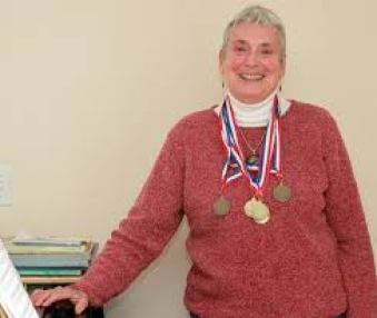 Donna with medals