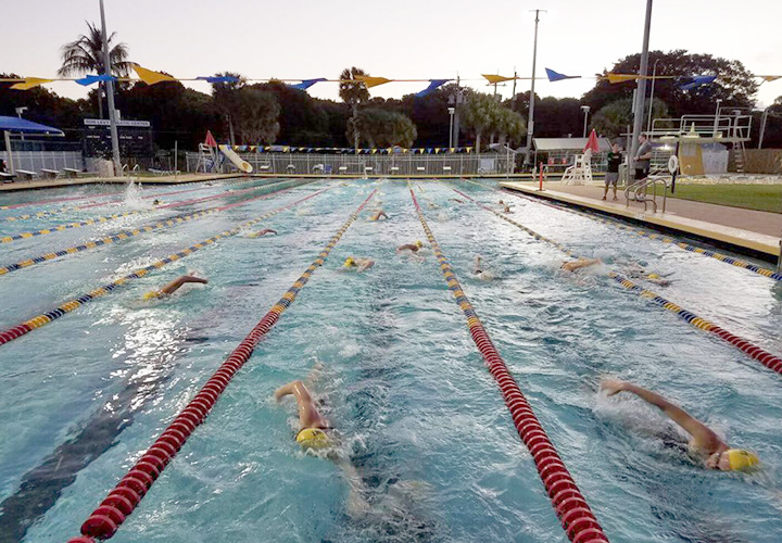 Swimmers in Pool