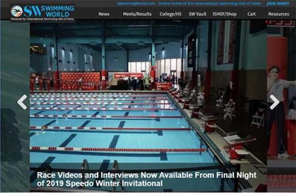 Swimming World website